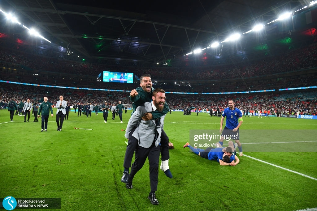 جشن قهرمانی ایتالیا در یورو