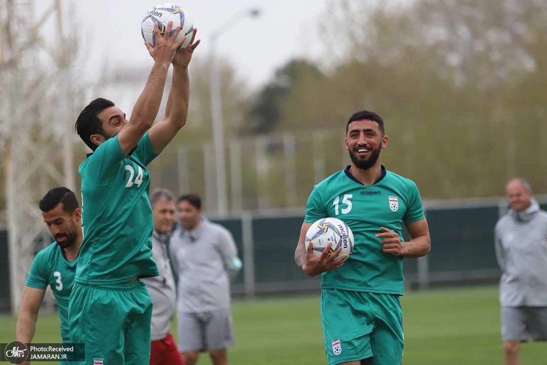 تمرین تیم ملی فوتبال ایران سیامک نعمتی اللهیار صیادمنش
