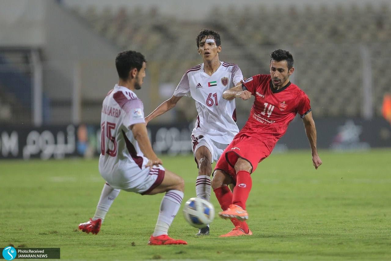 لیگ قهرمانان آسیا پرسپولیس الوحده امارات احسان پهلوان