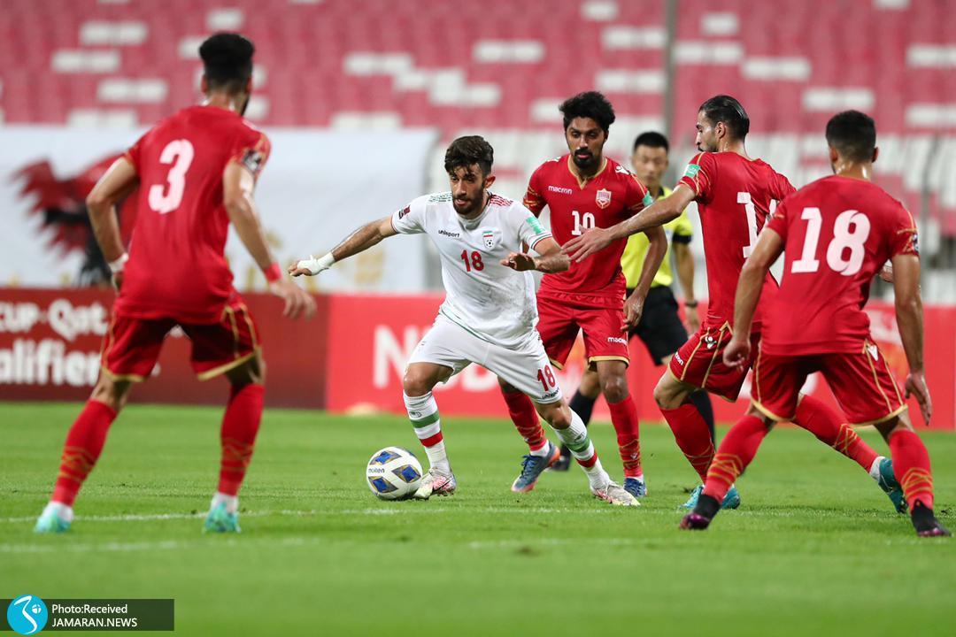 تیم ملی فوتبال ایران - ایران و بحرین علی قلی زاده