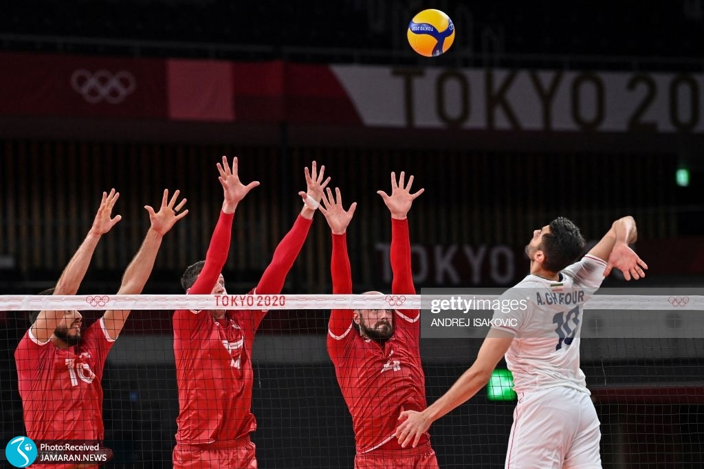 والیبال ایران و کانادا در المپیک امیر غفور