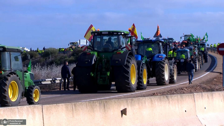 اعتراض+کشاورزان+اسپانیایی+به+ارزانی+مواد+غذایی