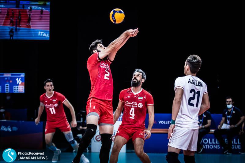میلاد عبادی پور لیگ ملت های والیبال 2021- تیم ملی والیبال ایران - ایران و آمریکا