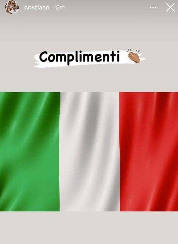 تبریک کریستیانو رونالدو به تیم ملی ایتالیا برای قهرمانی یورو 2020