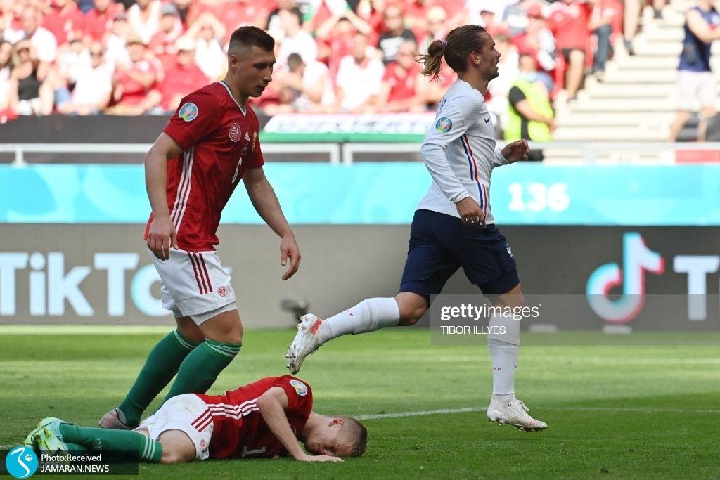 یورو ۲۰۲۰ - تیم فوتبال فرانسه و مجارستان گریزمن