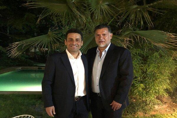 دیدار علی دایی با سفیر لبنان