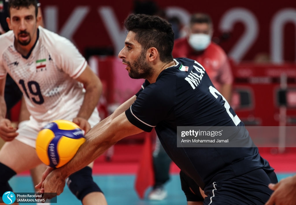 والیبال ایران و لهستان در المپیک میلاد عبادی پور