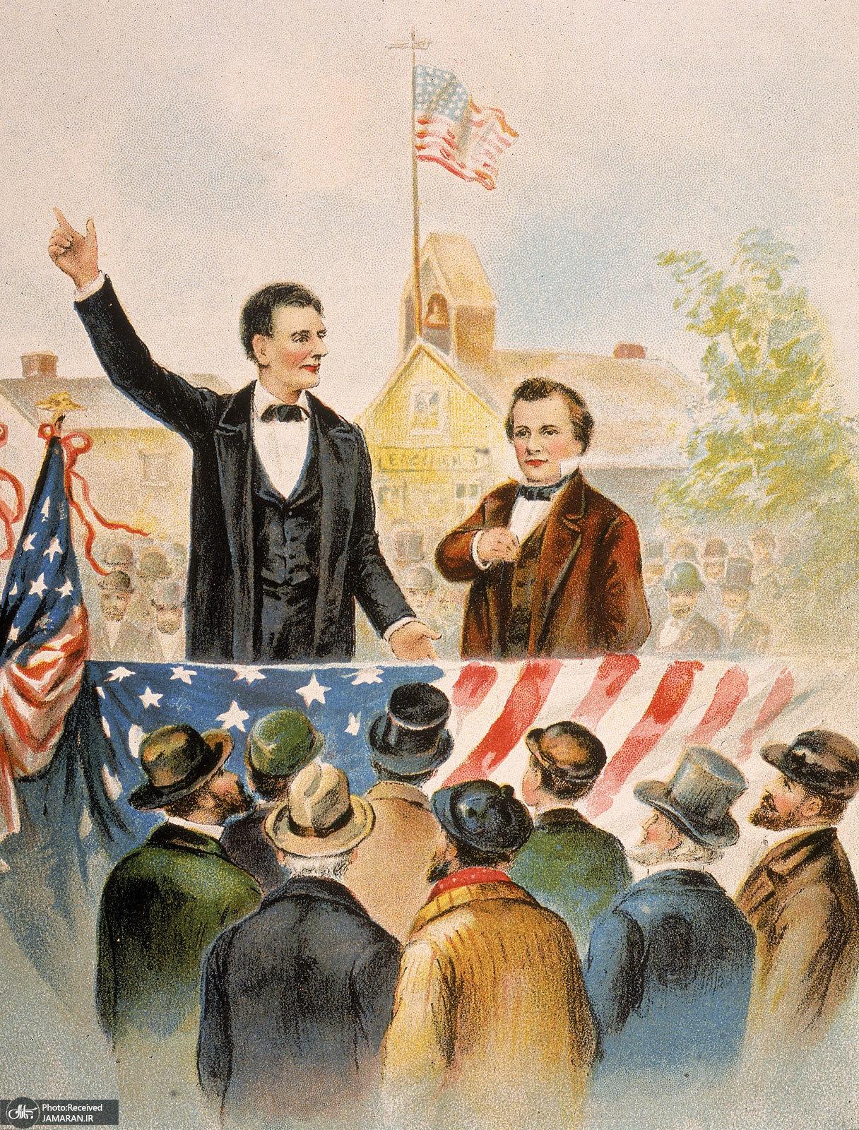 Stephen-A-Douglas-Abraham-Lincoln-debate-1858