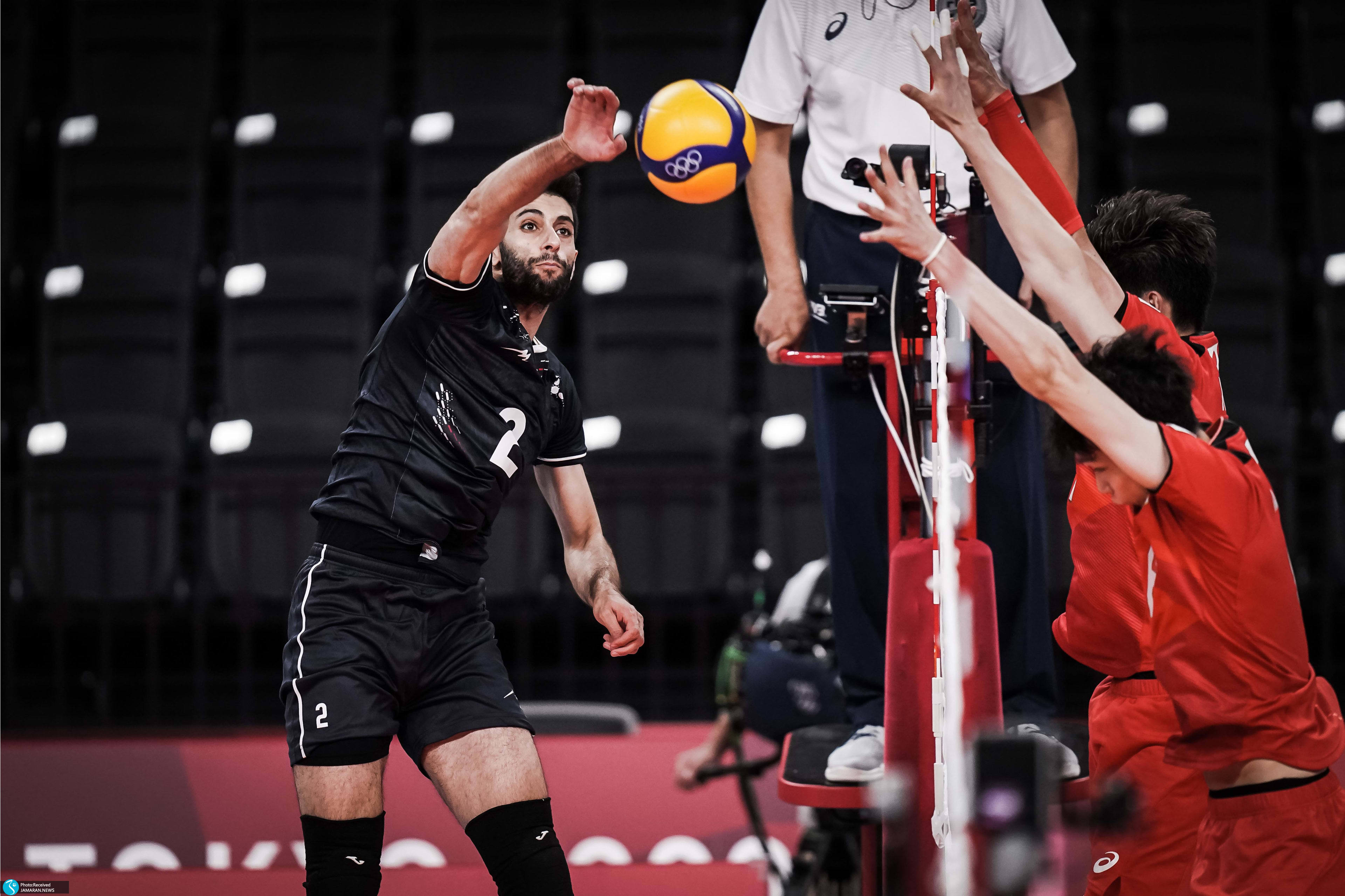 والیبال ایران و ژاپن در المپیک میلاد عبادی پور