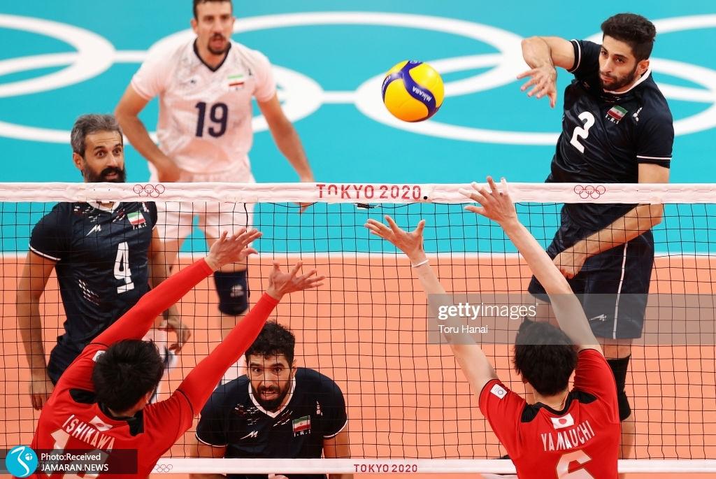 والیبال ایران و ژاپن در المپیک میلاد عبادی پور محمد موسوی سعید معروف