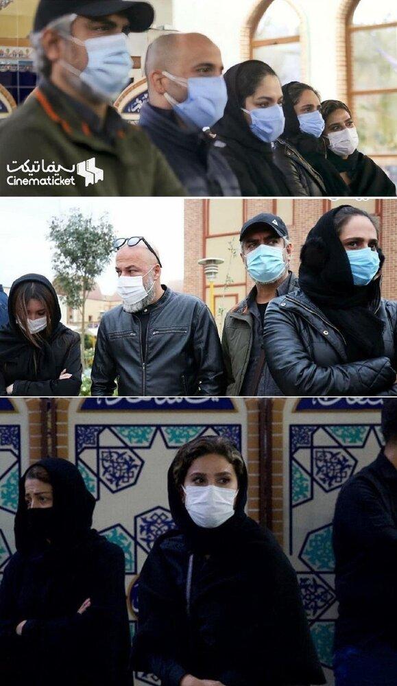 بازیگران در مراسم تشییع محمدرضا شجریان