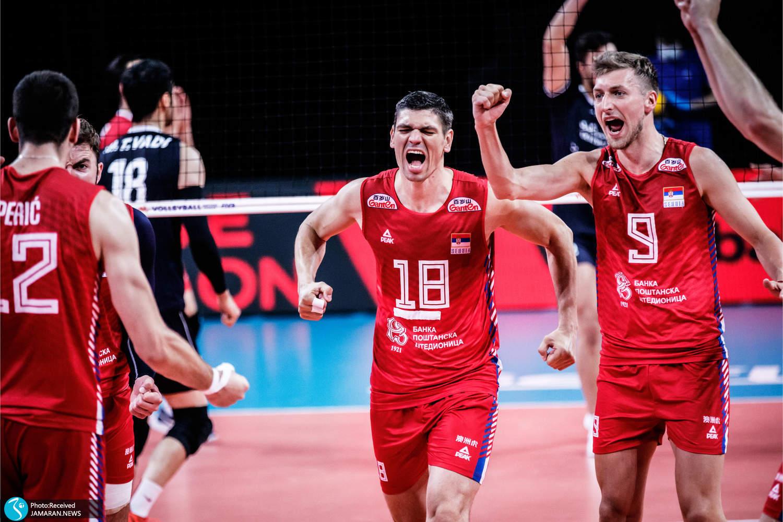 لیگ ملت های والیبال 2021 - تیم ملی والیبال ایران - ایران و صربستان