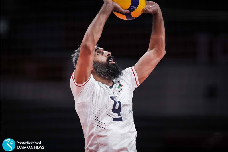 سهید معروف والیبال ایران و کانادا در المپیک توکیو