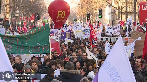 برگزاری+ششمین+اعتراض+بزرگ+فرانسوی_ها+به+اصلاح+قوانین+بازنشستگی