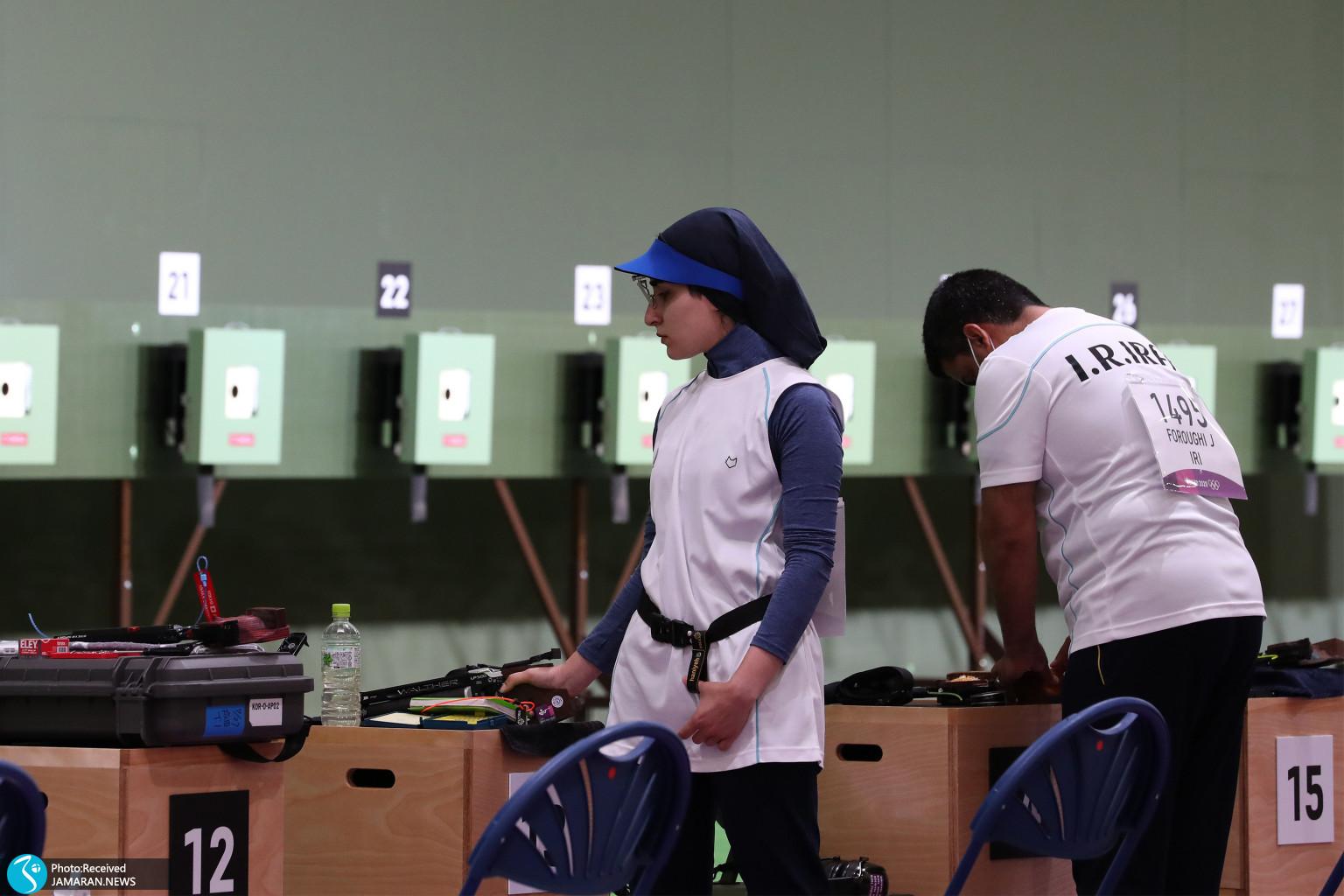 میکس تپانچه ایران در المپیک هانیه رستمیان جواد فروغی
