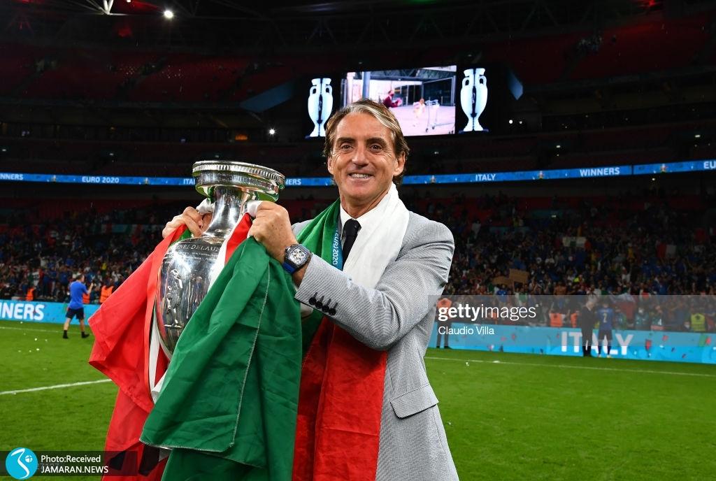 جشن قهرمانی ایتالیا در یورو روبرتو مانچینی