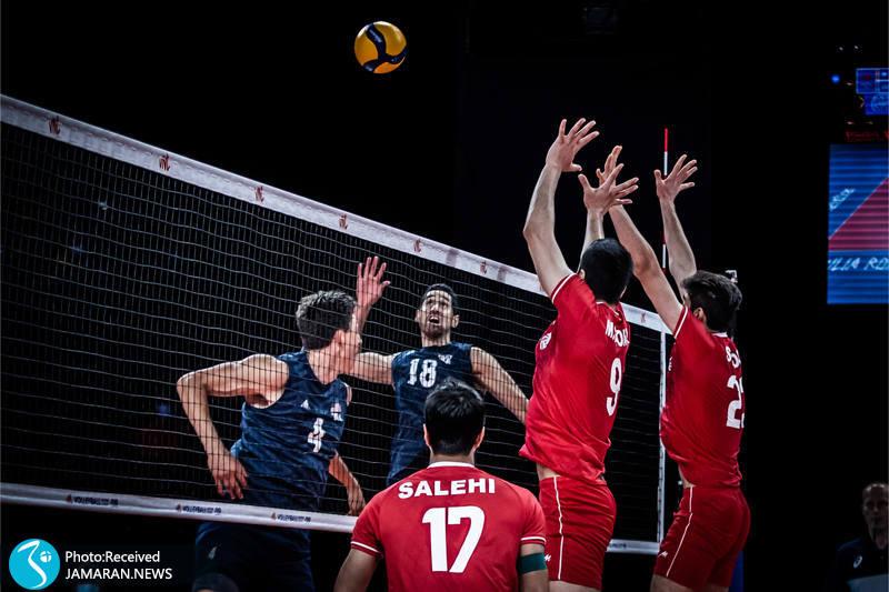 لیگ ملت های والیبال 2021- تیم ملی والیبال ایران - ایران و آمریکا