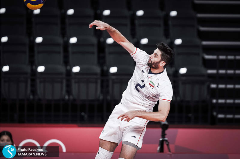میلاد عبادی پور والیبال ایران و کانادا در المپیک توکیو