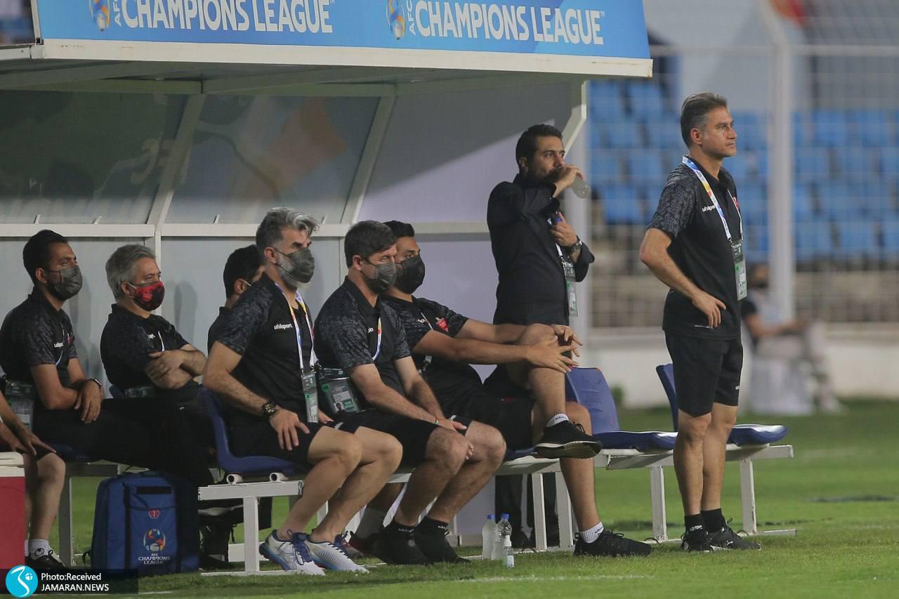 لیگ قهرمانان آسیا پرسپولیس الوحده امارات کادرفنی