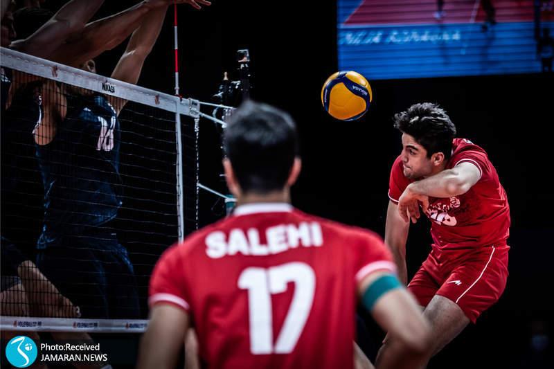 بردیا سعادت لیگ ملت های والیبال 2021- تیم ملی والیبال ایران - ایران و آمریکا