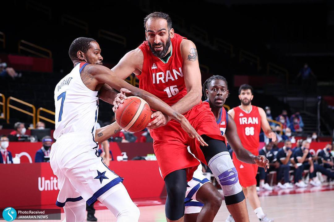 بسکتبال ایران - آمریکا