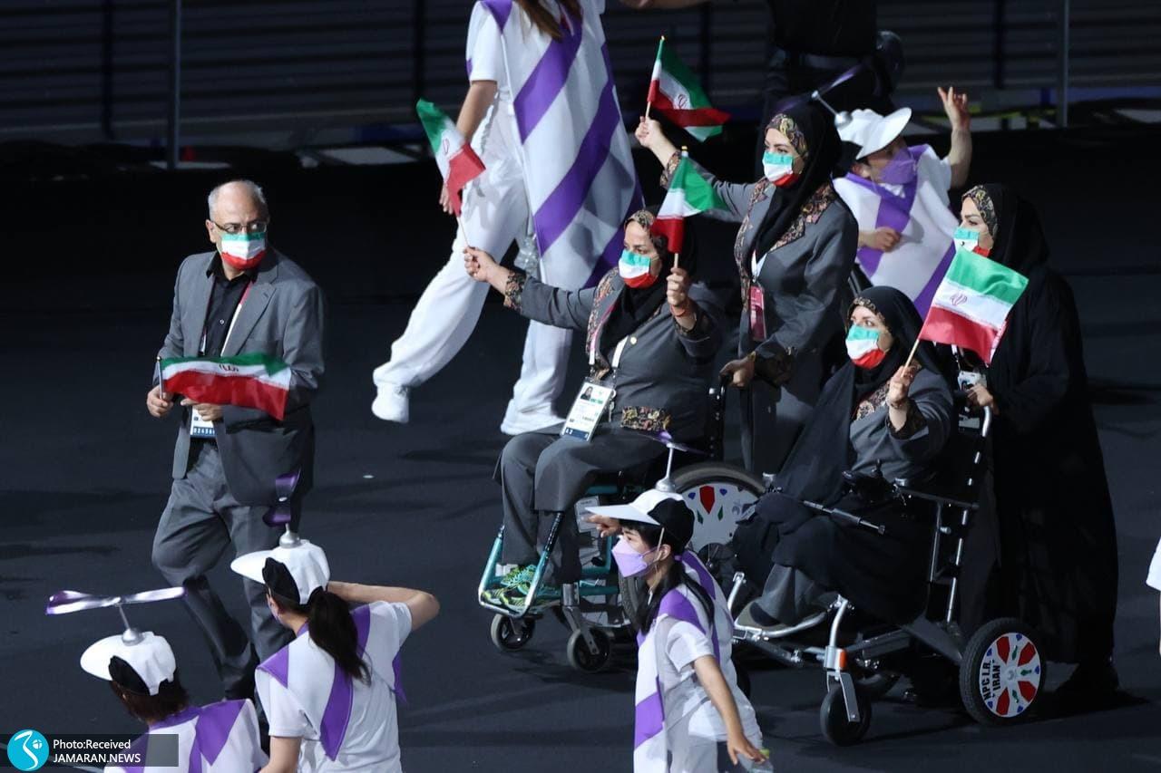 رژه کاروان ایران در افتتاحیه پارالمپیک