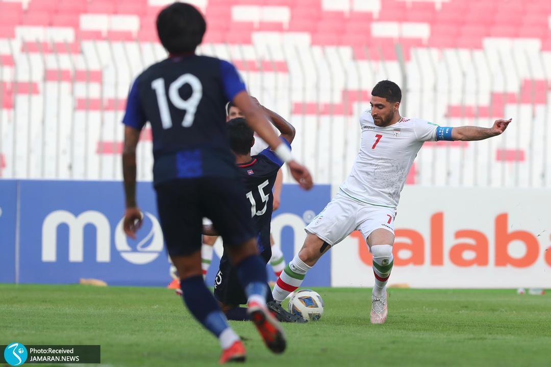 علیرضا جهانبخش تیم ملی فوتبال ایران - ایران و کامبوج