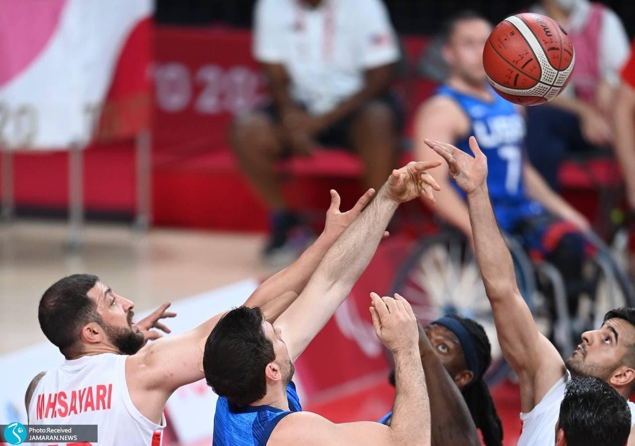 بسکتبال با ویلچر ایران در پارالمپیک 2020 - ایران - آمریکا