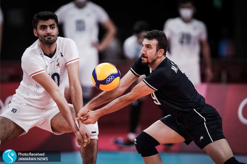 مهدی مرندی امیر غفور والیبال ایران و کانادا در المپیک توکیو
