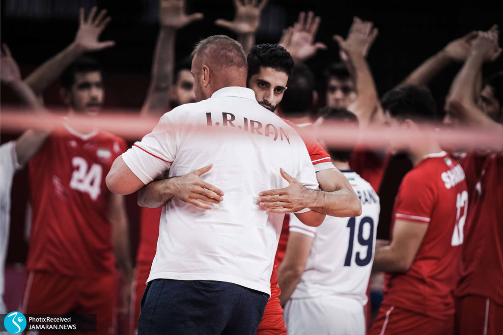 والیبال ایران و ایتالیا در المپیک میلاد عبادی پور