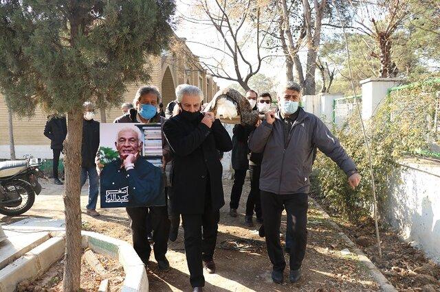 مراسم خاکسپاری اصغر عبداللهی