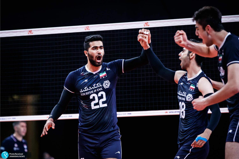 امیرحسین اسفندیار لیگ ملت های والیبال 2021 -  تیم ملی والیبال ایران - ایران و صربستان