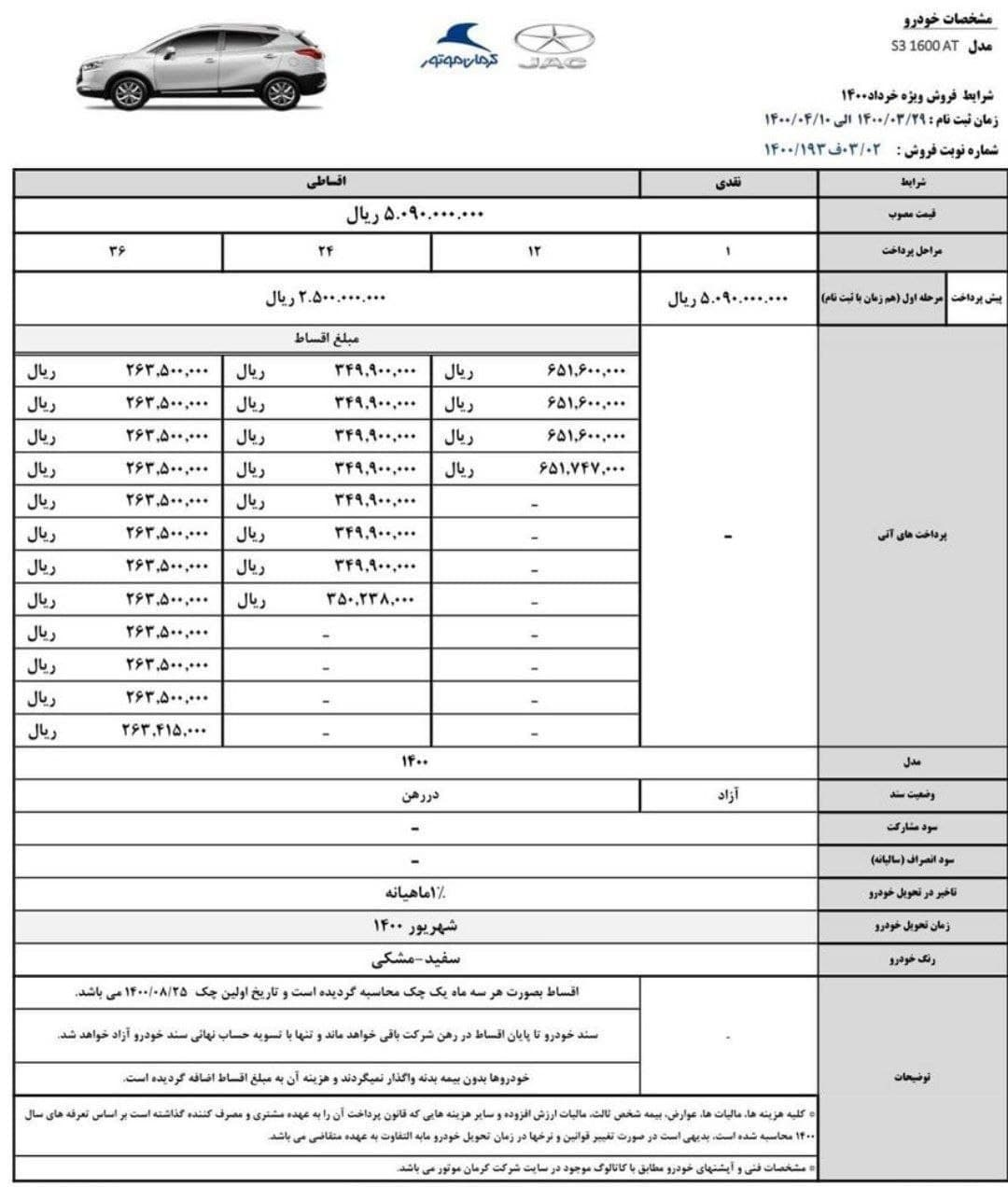 طرح+جدید+پیش_فروش+خودرو+جک+ای+3+ویژه+خرداد+و+تیر+1400