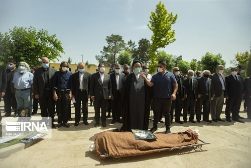 مراسم خاکسپاری عبدالوهاب شهیدی