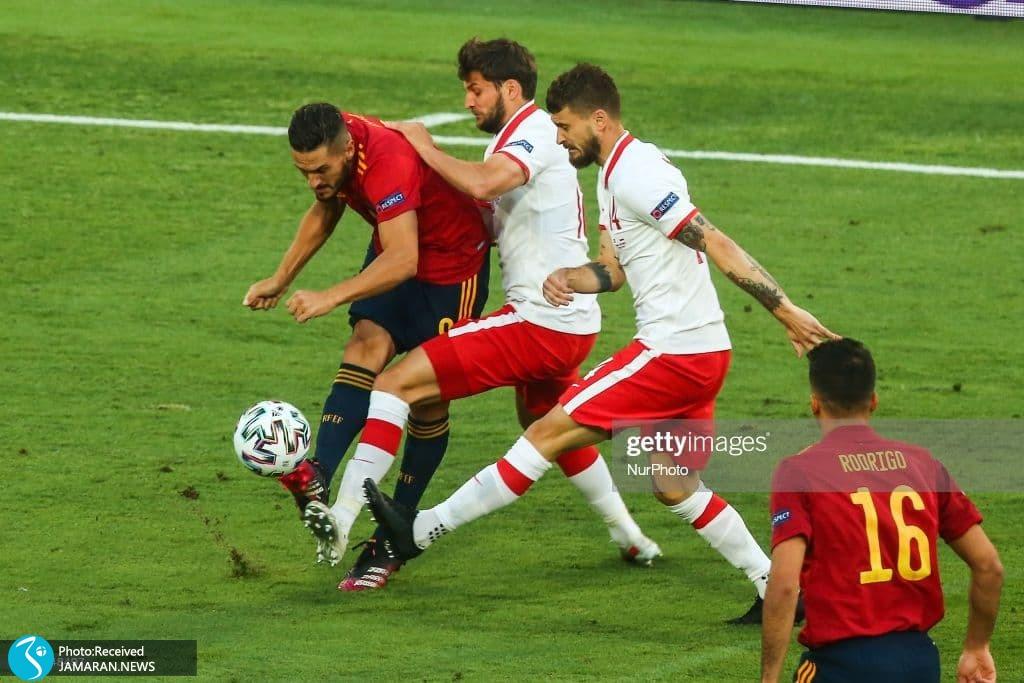 کوکه یورو 2020 - تیم فوتبال اسپانیا تیم فوتبال لهستان