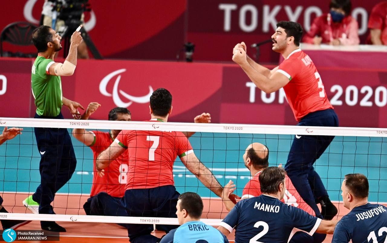 والیبال نشسته ایران و بوسنی در نیمه نهایی پارالمپیک توکیو