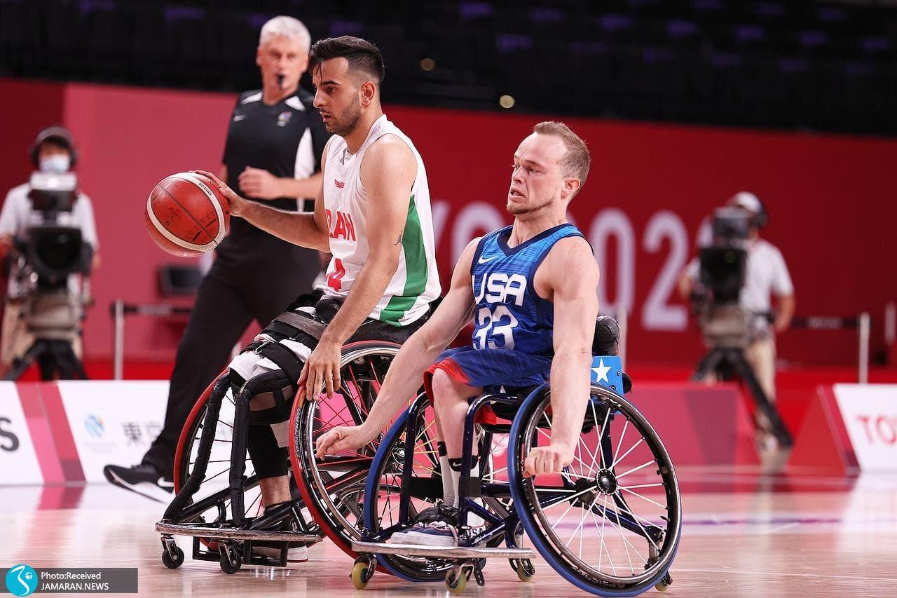 بسکتبال با ویلچر ایران در پارالمپیک توکیو - ایران آمریکا