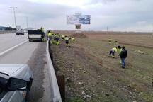 پاکسازی 12 کیلومتر از حاشیه آزادراه قزوین-کرج