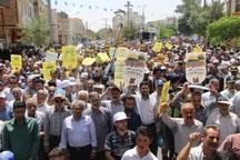 خروش گسترده مردم قم در حمایت از قدس شریف