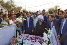 اربعین شهید عملیات تروریستی رژه اهواز در گتوند برگزار شد