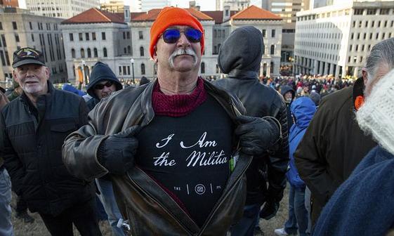 تظاهرات طرفداران حمل اسلحه در آمریکا+عکس