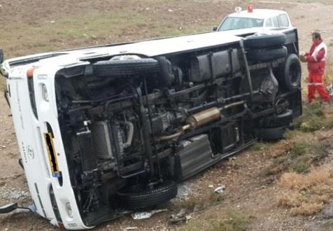 جزئیات تازه از واژگونی اتوبوس اتوبان قم-تهران