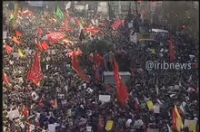 تصاویری از تشییع پیکرهای شهدای مقاومت به سمت میدان آزادی