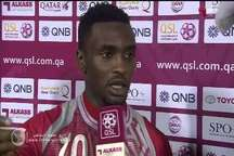 گلزن تیم لخویا قطر:  نتیجه بازی عادلانه بود