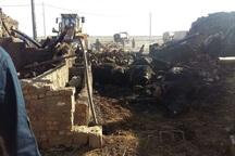 آتش سوزی در بوکان 2 میلیارد ریال خسارت برجاگذاشت