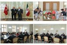 چاووشاوغلو با ظریف دیدار کرد/  وزیر خارجه ترکیه در توییتی سفر خود را رضایت بخش توصیف کرد