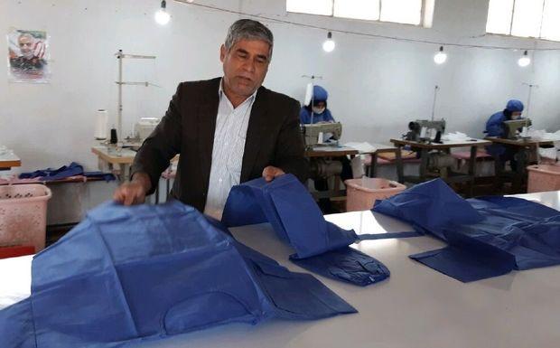 سهم یک کارآفرین سرپلذهابی برای مقابله با کرونا تولید ماسک بهداشتی است