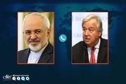 گفت و گوی تلفنی ظریف با دبیرکل سازمان ملل و مسئول سیاست خارجی اتحادیه اروپا/ تاکید گوترش و بوررل بر لزوم رفع تحریم های آمریکا علیه ملت ایران