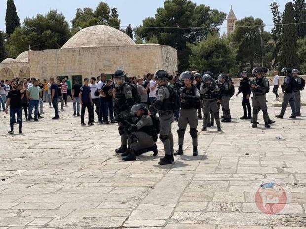درگیری فلسطینی ها با اشغالگران در قدس و کرانه باختری