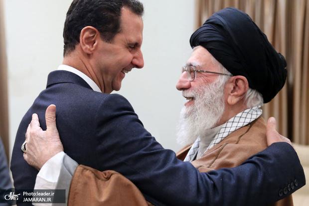 احوال پرسی رهبر معظم انقلاب از بشار اسد